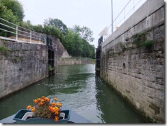 moving out of the first lock