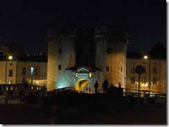Verdun gate late at night