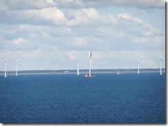 Wind turbines off the coast on Denmark