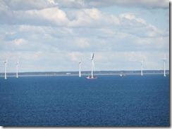 Wind turbines off the coast on Denmark