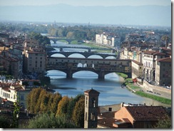 bridges over the Arno