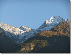 Looking up to the mountains around Aosta