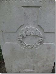 New Zealand Grave marker
