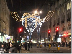 Xmas lights regent st