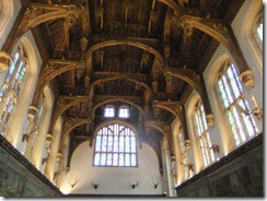 timber ceiling in the great hall