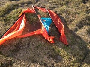 Damaged kite